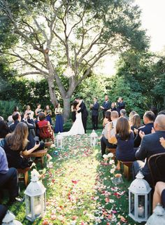 loving the flower petals as the aisle