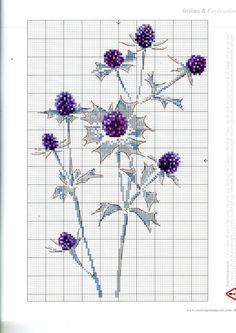 x stitch chart - thistles