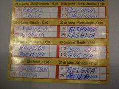 Minha Tabela Copa 2014 - Oitavas de final. 27/06/2014.