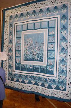 :) Blue medallion quilt..  no link