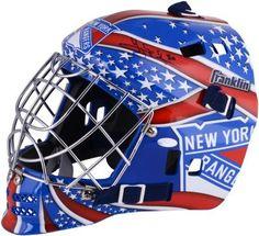 Henrik Lundqvist New York Rangers Autographed Replica Goalie Mask from  ManCaveGiant.com Rangers Gear 0ccc58054