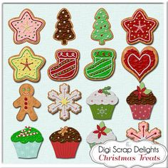 Holiday Cookie Clip Art | Christmas Clip Art, Digital Cookies & Cupcakes,  Peppermint,