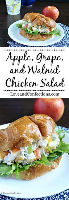 Apple, Grape, and Walnut Chicken Salad from LoveandConfections.com #BrunchWeek #sponsored