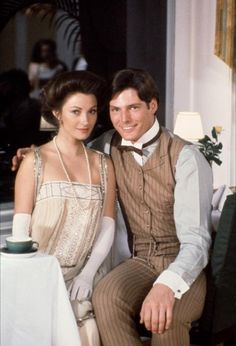 Somewhere in Time - starring Christopher Reeve and Jane Seymour A tragic love story, transcending time.... Remains as one of my favorite movies .