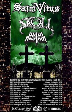 The Skull Announces Tour Dates with Saint Vitus and Witch Mountain #TheSkull #SaintVitus #WitchMountain
