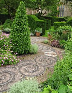 Mosaic walkway idea and landscaping