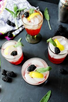Herbal Cocktail to Try: Blackberry and Whiskey Sage Cocktail