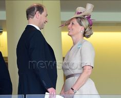 earlandcountessofwessex| Earl and Countess of Wessex, Edward and Sophie, at Royal Ascot 2013 Day Two on their 14th wedding anniversary 6/19/13.  They wed on June 19, 1999.