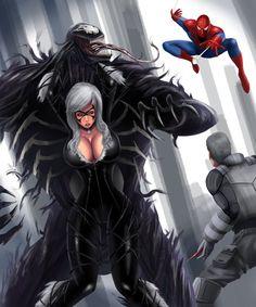 #Venom #SpiderMan #BlackCat