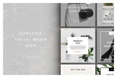 Give your social media accounts a #design upgrade with the Studio Standard #Lifestyle #SocialMedia Pack.