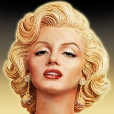 Marilyn Monroe digital painting by Mark Armstrong /This image first pinned to Marilyn Monroe art board here: https://www.pinterest.com/fairbanksgrafix/marilyn-monroe-art/ #Art #MarilynMonroe