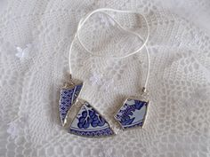 broken china jewelry Angol fajansz ékszer, nyaklánc