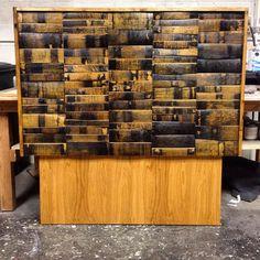 Wine and Bourbon Barrel Headboard black by HungarianWorkshop