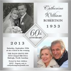 Shop Silver Diamond Anniversary Photo Invitations created by th_party_invitations. Personalize it with photos & text or purchase as is! 60th Anniversary Parties, Wedding Anniversary Photos, Wedding Anniversary Invitations, Photo Wedding Invitations, Silver Anniversary, Diamond Anniversary, Anniversary Ideas, Anniversary Dinner, Happy Anniversary