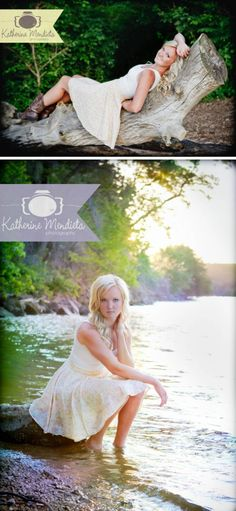 Cute Summer sun dress with cowboy boots,   gorgeous light. toes in the water. Senior Portrait Model. photo by Twin Cities,   Minnesota Photographer Katherine Mendieta. senior picture ideas for girls.   senior girl poses