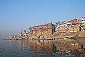 2306233 India Uttar Pradesh View Of Varanasi Ghats At Dawn; Varanasi