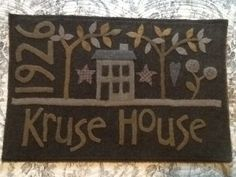 family name . . . year house built . . . make a saltbox house . . .