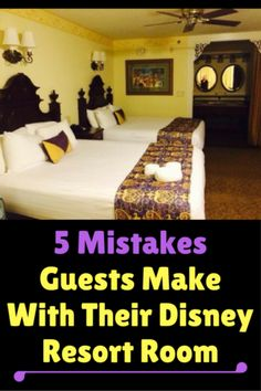 Learn from others! Here are 5 mistakes Guests make with their Disney resort room:What would you add to this list? Disney Hotels, Disney World Resorts, Disney World Tipps, Disney World Vacation Planning, Disney World Florida, Disney Planning, Disney World Tips And Tricks, Disney Tips, Disney Vacations