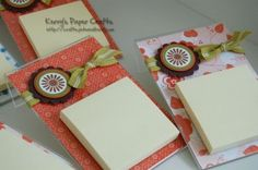 Clear acrylic frame, scrapbook paper, post it notes