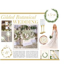 Gilded Botanical Wedding by Things Festive features gold decor blended with natural botanical elements.  Perfect for an elegant garden wedding theme