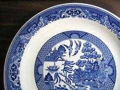 Decorative Charger Plate - Blue White Chinoiserie Exotic Birds USA Vintage Edge www.DecorativeDishes.net