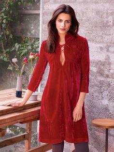 Schnittmuster: Empirekleid - Schnürung vorne - Langarm-Kleider - Kleider - Damen - burda style