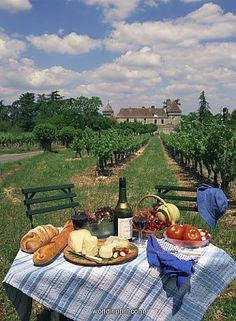 Hahnemuhle PHOTO RAG Fine Art Paper (other products available) - Table set with a picnic lunch in a vineyard in Aquitaine, France, Europe - Image supplied by WorldInPrint - Fine Art Print on Paper made in the UK Nature Aesthetic, Summer Aesthetic, Aesthetic Food, Travel Aesthetic, Aesthetic Outfit, Aesthetic Vintage, Aesthetic Girl, Camping Aesthetic, Aesthetic Bedroom