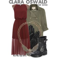 Inspired by Jenna Louise-Coleman as Clara Oswald on Doctor Who.