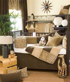 Nice jungle themed baby room.