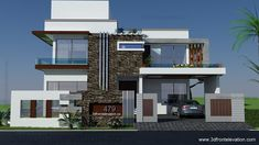 500 Square Yards House Plan- 3d Front Elevation- Design-  479-Tulip-Corner PLot,  Bahira Town,Lahore