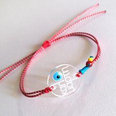 """Μarch bracelet by """"The red button"""" Red Button, Cords, Bracelet Making, Jewelry Crafts, Diy And Crafts, Jewelry Design, March, Pasta, Personalized Items"""