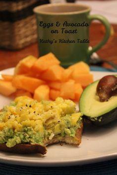 Eggs & Avocado on Toast | Kathy's Kitchen Table