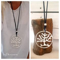 long woman pendant necklace tree of live endless Ring Tree