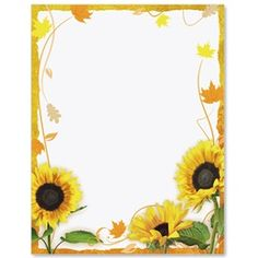 Page Borders Design, Border Design, Mint Green Wallpaper Iphone, Sunflower Template, Picture Borders, Free Printable Stationery, Boarders And Frames, Vintage Borders, Sunflower Wallpaper