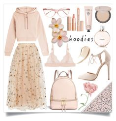 """""""hoodies"""" by addler ❤ liked on Polyvore featuring Off-White, Valentino, STELLA McCARTNEY, Michael Kors, Charlotte Russe, Prism, Bobbi Brown Cosmetics, Burberry, Josie Maran and Chantecaille"""