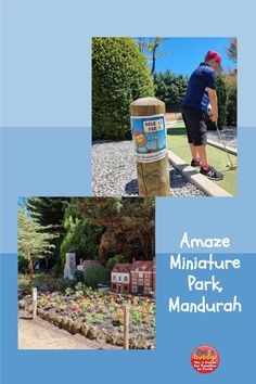 Take your mini people to discover a wonderful little land at Amaze Miniature Park! It's easy to spend hours exploring the beautifully manicured park, found 5 minutes from Mandurah. Formerly known as Abingdon Miniature Village, the current owners have put a lot of love and work into the lush gardens and mazes. Here you'll find mini golf, model railways, a playground and picnic areas too! Little Land, Lush Garden, Picnic Area, Playground, Miniatures, Park, Amazing, Children Playground, Parks