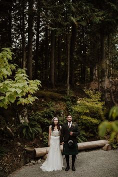 Kelly and Tariq's forest wedding in the mountains of Whistler - Brent Calis Photography