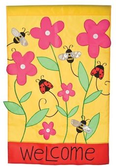 Welcome Bees & Ladies House Applique Flag by Toland Home Garden. $20.31. Decorative Art Flag. Toland Flags are UV, Mildew, and Fade Resistant. Heat sublimated process permanently dyes flag fabric for long-lasting color. Toland Flags are made from durable 600 denier polyester. All Toland Flags are machine washable. Welcome Bees & Ladies Standard Applique Flag 28 by 40