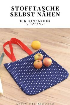 A simple guide on how you can easily sew a pretty fabric bag yourself from scraps of fabric! Also suitable for beginners! # sew bag Sew a simple fabric bag yourself: Sustainable shopping bag instead of plastic bag! – Active with children Fabric Remnants, Fabric Scraps, Sewing Tutorials, Sewing Projects, Sewing Patterns, Diy For Kids, Crafts For Kids, Easy Crafts, Diy And Crafts