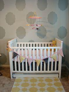 Custom Nursery Art by Kimberly: Pinwheel Crib Mobile Tutorial