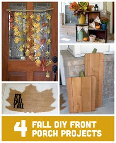 4 simple and inexpensive DIY projects to make for your front porch this fall.