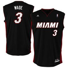 adidas Dwyane Wade Miami Heat Black Replica Road Jersey Dwyane Wade Shoes c38c39654