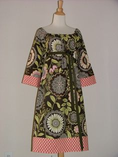 Hey, I found this really awesome Etsy listing at https://www.etsy.com/ru/listing/156410099/scoop-neck-dress-or-top-amy-butler-olive
