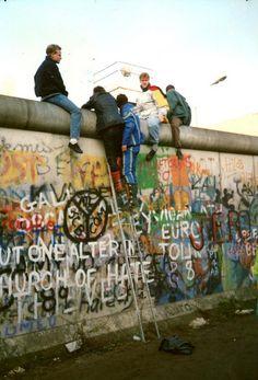 Zimmerstrasse, Berlin on the 10th.November 1989