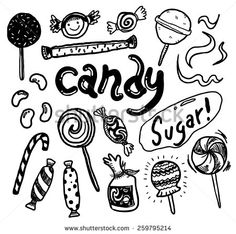 hand #drawn #candy #doodle #design #graphic #vector #illustration