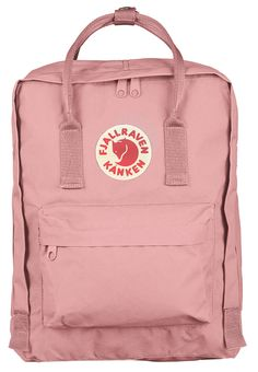 The Kanken backpack from Fjallraven is the classic backpack from Sweden with the familiar red fox logo seen everywhere. Mochila Kanken, Fjallraven Kanken Pink, Pink Kanken, Mochila Jansport, Kanken Outfit, Pinke Outfits, Lightweight Backpack, Cute Backpacks, Toddler Girls