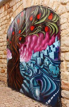 Safed, ¡lengua! Un pueblo precioso......y una sinagoga preciosa....