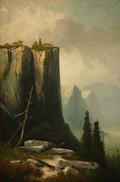 THOMAS HILL  Lookout Rock, Yosemite Valley (c.1900)