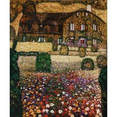 Klimt - Country House by the Attersee Oil Painting  www.OverArts.com