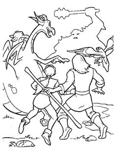 The Magic Sword: Quest for Camelot Coloring pages for kids. Printable. Online Coloring. 18